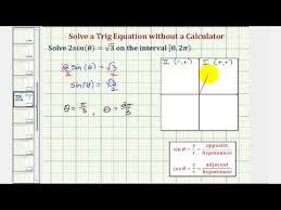 ex solve sin x a without a calculator