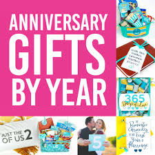 anniversary gifts by year for spouses