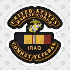 Usmc Car Combat Veteran Iraq Usmc Car Combat Veteran Iraq Sticker Teepublic