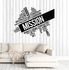 Amazon Com Vinyl Wall Decal Mission Company Team Leadership Office Words Stickers Mural Large Decor Ig4982 Dark Green Home Kitchen
