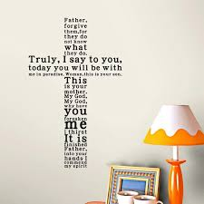 Cross Father Forgive Them Wall Decal Quotes Removable Wall Stickers Decor Diy Wall Sticker Decor Sticker Decorationdecor Diy Aliexpress