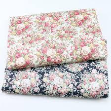 cotton fabric printed retro fl