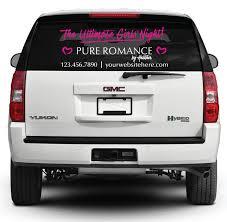 Pure Romance Rear Window Decal Ultimate Girls Night Pink Pure Romance