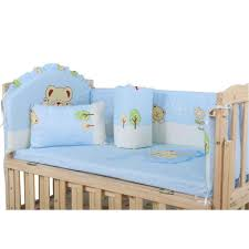 5pcs Baby Bed Bumpers Pure Cotton Infant Bedding Set Newborn Cartoon Printed Crib Fence For Toddler Lazada Ph