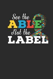 see the able not the label journal or notebook quote thank