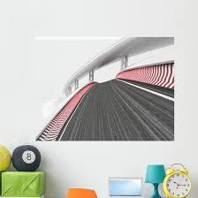 Race Track Transportation Wall Decal Wallmonkeys Com