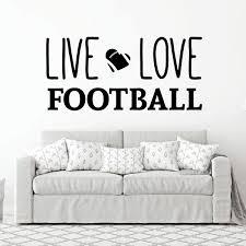 Live Love Football Wall Decal Vinyl Decor Wall Decal Customvinyldecor Com