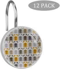 Amazon Com Lorvies Dutch Window Shower Curtain Hooks Set Of 12 Stainless Steel Shower Hooks Decorative Hanger Rings Rust Resistant For Bathroom Kids Room Fashion Home Decor Home Kitchen