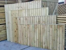 Heavy Duty Wooden Timber Fence Panel Select Size From 3ft 4ft 5ft 6ft Ebay