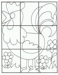 Puzzel Kleurplaat Haan Kleurplaten Puzzel Werkjes