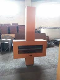 wood fireplace grill with chimney