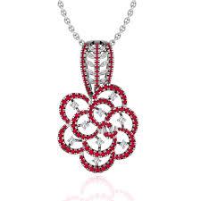 vintage flower pendant for woman