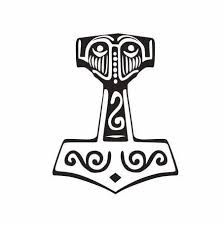 Thor S Hammer Decal Thor Hammer Wielding God Norse Etsy In 2020 Thors Hammer Norse Norse Mythology