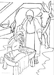 1001 Kleurplaten Kerst Jezus Kleurplaat Jozef Maria