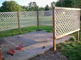 Special Wooden Fence Foundation Ark In 2020 Patio Fence Backyard Fences Privacy Fence Designs