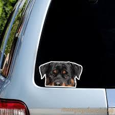 Rottweiler Car Sticker Car Decal Vinyl Sticker Rott Etsy