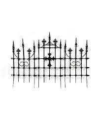 3 Ft Gothic Cemetery Cross Fence Decorations Spirithalloween Com Gothic Halloween Decorations Outdoor Halloween Spirit Halloween