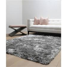 luxe grey 5 ft x 8 ft area rug