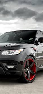 range rover black suv car front view