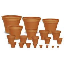 whole red clay standard pots ceramo