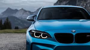 wallpaper bmw m2 blue cars