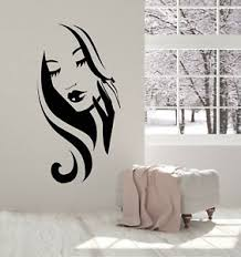 Vinyl Wall Decal Hairstyle Beauty Hair Salon Beautiful Face Girl Stickers 3052ig Ebay
