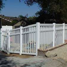 Weatherables Captiva 5 Ft H X 8 Ft W White Vinyl Pool Fence Panel Pwpo 3 5x8 The Home Depot Vinyl Pool White Vinyl Fence Fence Design