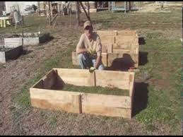 raised beds from reclaimed pallet wood