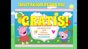 Invitacion Peppa Pig O Peppa La Cerdita Completamente Gratis