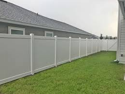 White Vinyl Fencing Jacksonville Featured Installation North Florida Fence Company