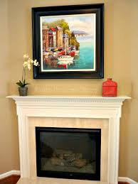 simple fireplace mantel decor