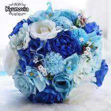 باقة الزفاف من Kyunovia مصنوعة من الحرير الاصطناعي باقة العروس