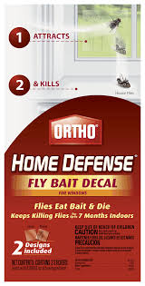 Ortho Home Defense Fly Bait Decal For Windows Indoor Insect Control Ortho