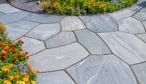 how to stain flagstone hardscape