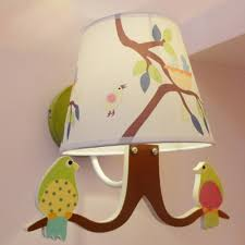 Bird Design Wall Mount Light Kids Children Room Single Light Wall Lamp With Coolie Fabric Shade Takeluckhome Com