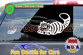 Cheshire Cat Decal Vinyl Die Cut Stickers Fun Decals For Cars