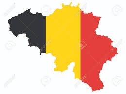 Kaart Van België En De Belgische Vlag Illustratie Royalty Vrije ...