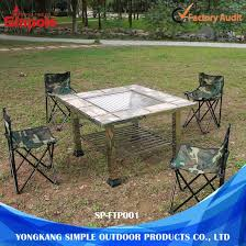 outdoor camping grill stainless steel