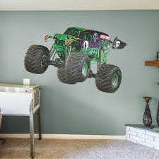 Fathead Grave Digger Huge Officially Licensed Monster Jam Removable Wall Decal Walmart Com Walmart Com