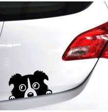 14x8cm Car Lovely Pet Dog Sticker Funny Decal Auto Bumper Window Body Decal