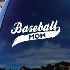 Amazon Com Socooldesign Baseball Mom Car Window Vinyl Decal Sticker 5 Wide White Automotive