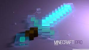 blue minecraft pro sword hd wallpaper