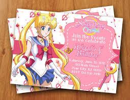 Sailor Moon Invitation Buscar Con Google Invitaciones De