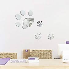 heying acrylic mirror decal dog cat paw