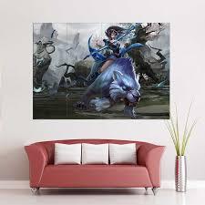 Mirana Priestess Of The Moon Dota 2 Block Giant Wall Art Poster