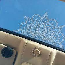 Mandala Car Decal Mandala Sticker Yoga Decal Boho Decor Flower Decal Mandala Sticker Handmade Gifts Mirror Sticker Wall Decal Vinyl Decal In 2020 Car Decals Boho Car Accessories Car Accessories