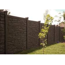 Simtek 6 Ft H X 6 Ft W Ecostone Dark Brown Composite Fence Panel Fp72x72dbr The Home Depot