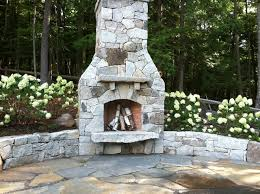 granite fireplace and retaining wall