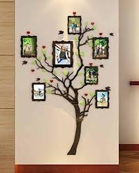 Acrylic Wall Stickers 3d Crystal Wall Decals Family Tree With Frames Small Crystal Wall Tree Wall Decal Wall Decals