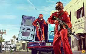 grand theft auto 5 gang robbery wallpaper